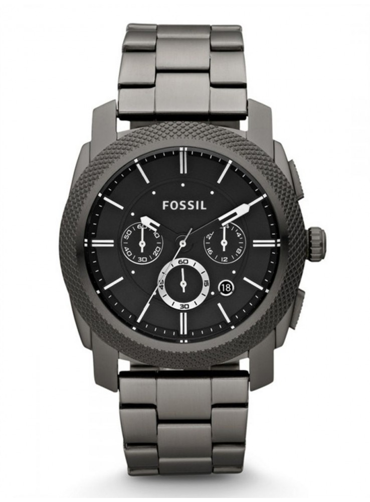 e5c9ab31293 Fossil Machine for Men - Analog Stainless Steel Band Watch - FS4662